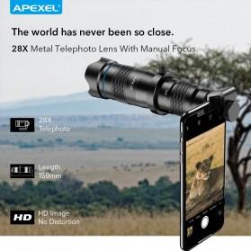 APEXEL Lensa Kamera Smartphone Telephoto HD Zoom Lens 28X - APL-JS28X - Black