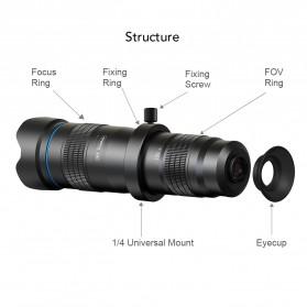 APEXEL Lensa Kamera Smartphone Telephoto HD Zoom Lens 28X - APL-JS28X - Black - 2