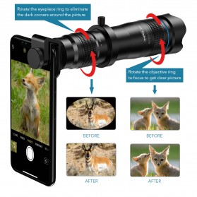 APEXEL Lensa Kamera Smartphone Telephoto HD Zoom Lens 28X - APL-JS28X - Black - 4