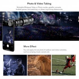 APEXEL Lensa Kamera Smartphone Telephoto HD Zoom Lens 28X - APL-JS28X - Black - 5