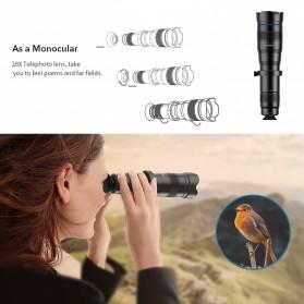 APEXEL Lensa Kamera Smartphone Telephoto HD Zoom Lens 28X - APL-JS28X - Black - 7