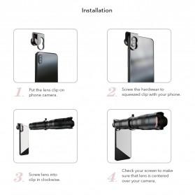 APEXEL Lensa Kamera Smartphone Telephoto HD Zoom Lens 28X - APL-JS28X - Black - 8