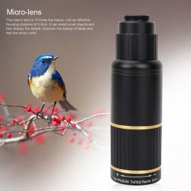 APEXEL 16X Universal Lensa Kamera Smartphone Long Focus Fisheye Wide Angle Micro Lens - APL-T16XBZJ5 - Black - 2