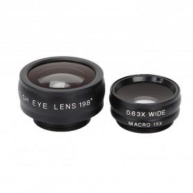 APEXEL 16X Universal Lensa Kamera Smartphone Long Focus Fisheye Wide Angle Micro Lens - APL-T16XBZJ5 - Black - 8