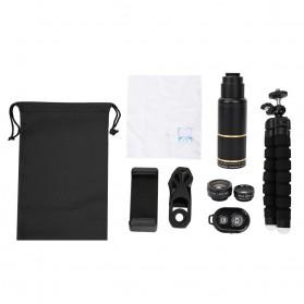 APEXEL 16X Universal Lensa Kamera Smartphone Long Focus Fisheye Wide Angle Micro Lens - APL-T16XBZJ5 - Black - 9