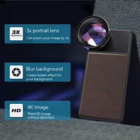 APEXEL Telephoto Lens Smartphone 3x Zoom 85mm - APL-PR85 - Black - 3