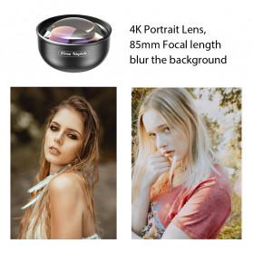 APEXEL Telephoto Lens Smartphone 3x Zoom 85mm - APL-PR85 - Black - 4