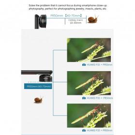 APEXEL Super Macro Lens Smartphone 40-70mm - APL-PR50 - Black - 9
