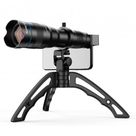 APEXEL Lensa Telephoto Lens Kit 36x + SwitchPod Mini Tripod - APL-JS36XJJ04 - Black - 4