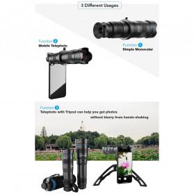 APEXEL Lensa Telephoto Lens Kit 36x + SwitchPod Mini Tripod - APL-JS36XJJ04 - Black - 7