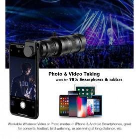 APEXEL Lensa Telephoto Lens Kit 36x + SwitchPod Mini Tripod - APL-JS36XJJ04 - Black - 9