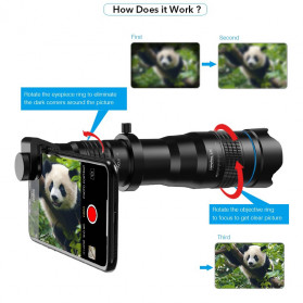APEXEL Lensa Telephoto Lens Kit 36x + SwitchPod Mini Tripod - APL-JS36XJJ04 - Black - 10