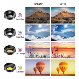 APEXEL 11 in 1 Lensa Smartphone Wide Macro Fisheye Filter HD Multifunction Kits - APL-DG11 - Black - 5