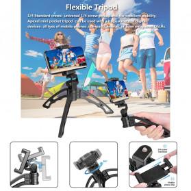 APEXEL 4 in 1 Lensa Fisheye + Macro + Wide Angle + Telephoto Lens Kit + SwitchPod - APL-JS16XJJ04D5 - Black - 10