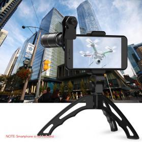 APEXEL 4 in 1 Lensa Fisheye + Macro + Wide Angle + Telephoto Lens Kit + SwitchPod - APL-JS16XJJ04D5 - Black - 7
