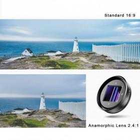 APEXEL Lensa Kamera Smartphone Wide Angle Screen Anamorphic 1.33X - APL-HBHDAN - Black - 2
