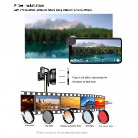 APEXEL Lensa Kamera Smartphone Wide Angle Screen Anamorphic 1.33X - APL-HBHDAN - Black - 6