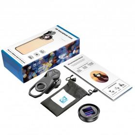 APEXEL Lensa Kamera Smartphone Wide Angle Screen Anamorphic 1.33X - APL-HBHDAN - Black - 8