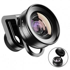 APEXEL Lensa Kamera Smartphone Universal Clip Wide Angle + Macro Lens - APL-HD5-2IN1WM - Black