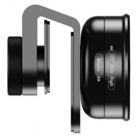 APEXEL Lensa Kamera Smartphone Universal Clip Wide Angle + Macro Lens - APL-HD5-2IN1WM - Black - 3