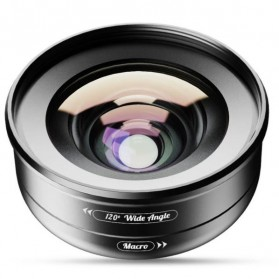 APEXEL Lensa Kamera Smartphone Universal Clip Wide Angle + Macro Lens - APL-HD5-2IN1WM - Black - 4