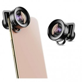 APEXEL Lensa Kamera Smartphone Universal Clip Wide Angle + Macro Lens - APL-HD5-2IN1WM - Black - 5