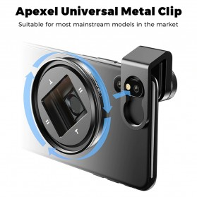 APEXEL Lensa Smartphone Anamorphic Lens 1.33x with CPL and Starliight Filter- APL-PRAN-V2 - Black - 3