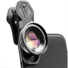APEXEL Lensa Kamera Smartphone Universal Clip 30-80mm Macro Lens - APL-HB3080 - Black - 2