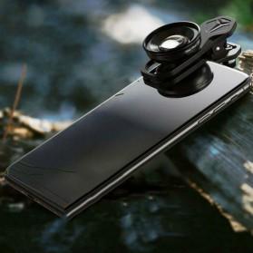 APEXEL Lensa Kamera Smartphone Universal Clip 30-80mm Macro Lens - APL-HB3080 - Black - 3