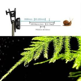 APEXEL Lensa Kamera Smartphone Universal Clip 30-80mm Macro Lens - APL-HB3080 - Black - 5