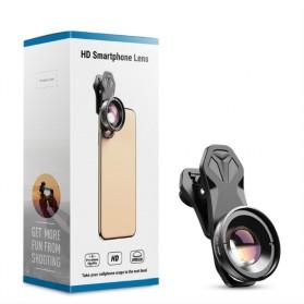 APEXEL Lensa Kamera Smartphone Universal Clip 30-80mm Macro Lens - APL-HB3080 - Black - 6