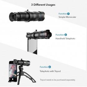 APEXEL Lensa Telephoto Lens Kit 20x-40x + SwitchPod Mini Tripod  - APL-JS2040XJJ04 - Black - 3