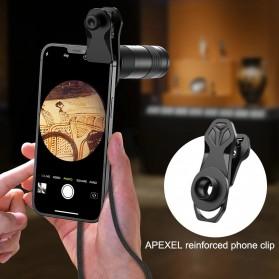 APEXEL Lensa Telephoto 6X20M Monocular untuk Smarpthone - APL-6X20M - Black
