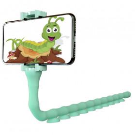 Binmer Lazy Smartphone Holder Suction 360 Flexible Cute Worm - JW-L8 - Black - 2