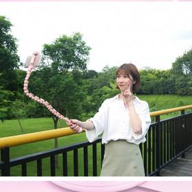 Binmer Lazy Smartphone Holder Suction 360 Flexible Cute Worm - JW-L8 - Black - 8