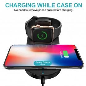 DCAE 2 in 1 Qi Wireless Charging Dock Smartphone + Smartwatch 10W - WX3IN1 - Black - 2