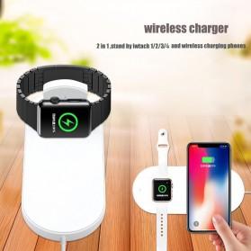 DCAE 2 in 1 Qi Wireless Charging Dock Smartphone + Smartwatch 10W - WX3IN1 - Black - 3