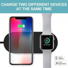 DCAE 2 in 1 Qi Wireless Charging Dock Smartphone + Smartwatch 10W - WX3IN1 - Black - 4