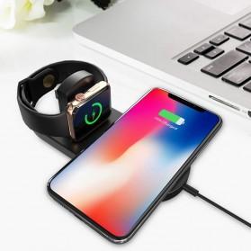 DCAE 2 in 1 Qi Wireless Charging Dock Smartphone + Smartwatch 10W - WX3IN1 - Black - 7