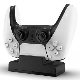 OLPAY Dok Pengisi Daya Controller Charging Docking Station Stand for PS5 Gamepad - SON588 - Black