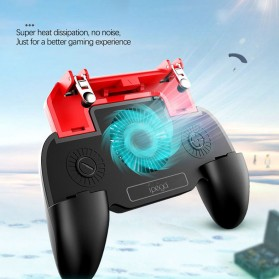 Ipega Gamepad Grip Trigger Aim Touchpad L1 R1 PUBG Fortnite with Cooling Fan + 2000mAh Powerbank - PG-9123 - Black - 5