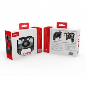 Ipega Gamepad Grip Tombol Trigger Aim Touchpad L1 R1 PUBG Fortnite - PG-9117 - Black - 12