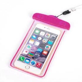 Tas Waterproof Luminous untuk Smartphone 4.5 - 6 Inch - ABS175-100 - Pink