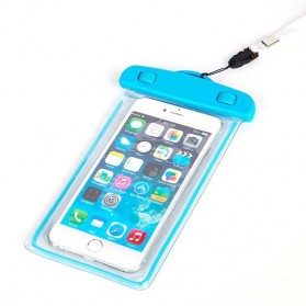 Waterproof Case Bag - Tas Waterproof Luminous untuk Smartphone 4.5 - 6 Inch - ABS175-100 - Blue