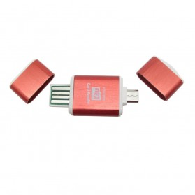 OTG Smart Card Reader Connection Kit - MUO-06 - Red