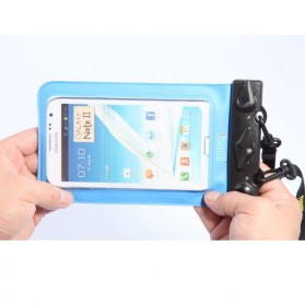 Waterproof Bag with Armband for Smartphone 4.8 - 5.5 Inch - T-11C - Blue