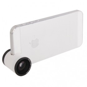 Teog Photo Lens Kit 3 in 1 (180 Degree 0.28x Fisheye Lens + Wide Lens + Marco Lens) for iPhone 5 - White - 2