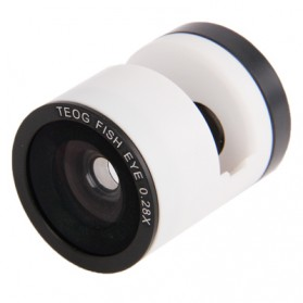 Teog Photo Lens Kit 3 in 1 (180 Degree 0.28x Fisheye Lens + Wide Lens + Marco Lens) for iPhone 5 - White - 4