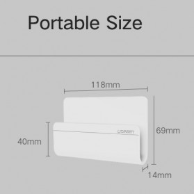 UGreen Smartphone Wall Stand Holder - LP108 - White - 6