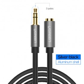UGEEN Kabel Audio AUX 3.5mm Male to Female 1 Meter - AV118 - Black